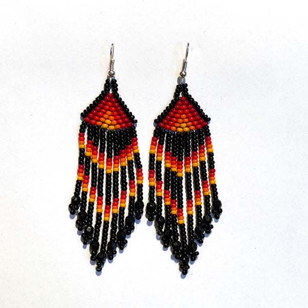 Tribal Earring Small Orange