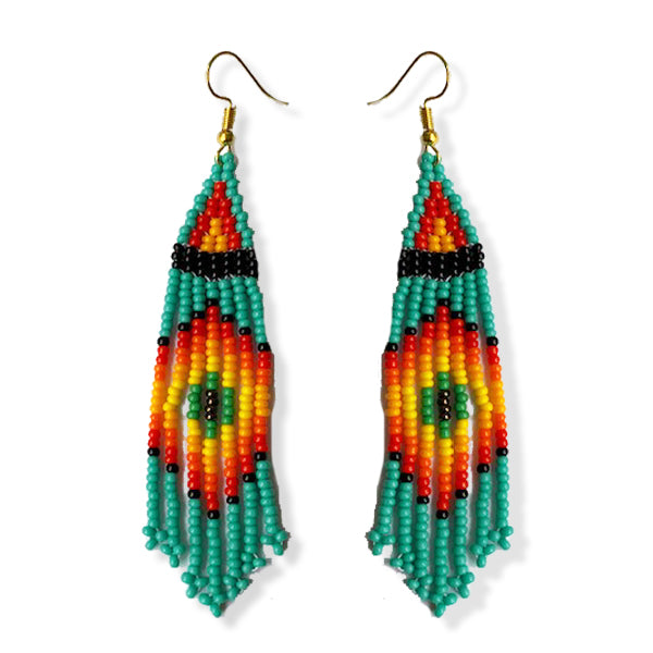 Tribal Earring Small Turquoise
