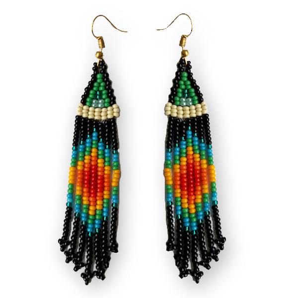 Tribal Earring Small Black