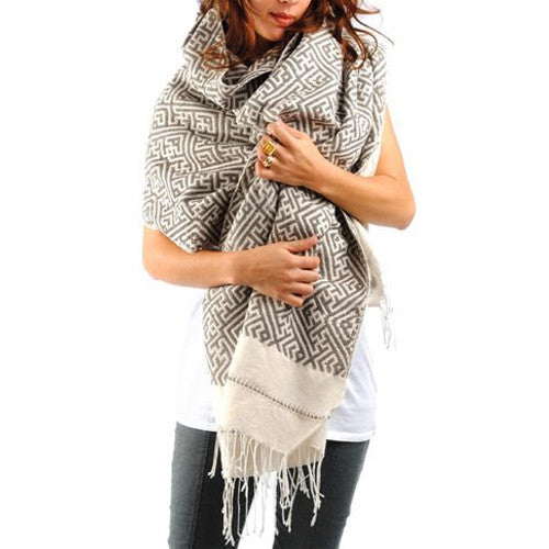 Navia Throw Grey/White