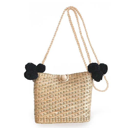 Maxime Mini Pom Basket Black