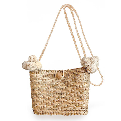 Maxime Mini Pom Basket White