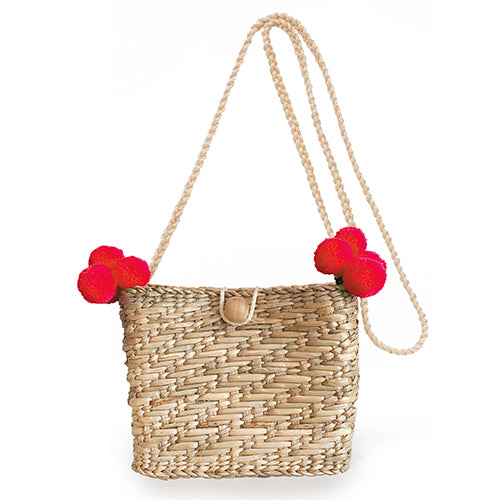 Maxime Mini Pom Basket Red
