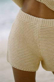 Noelle Knit Shorts - Tan