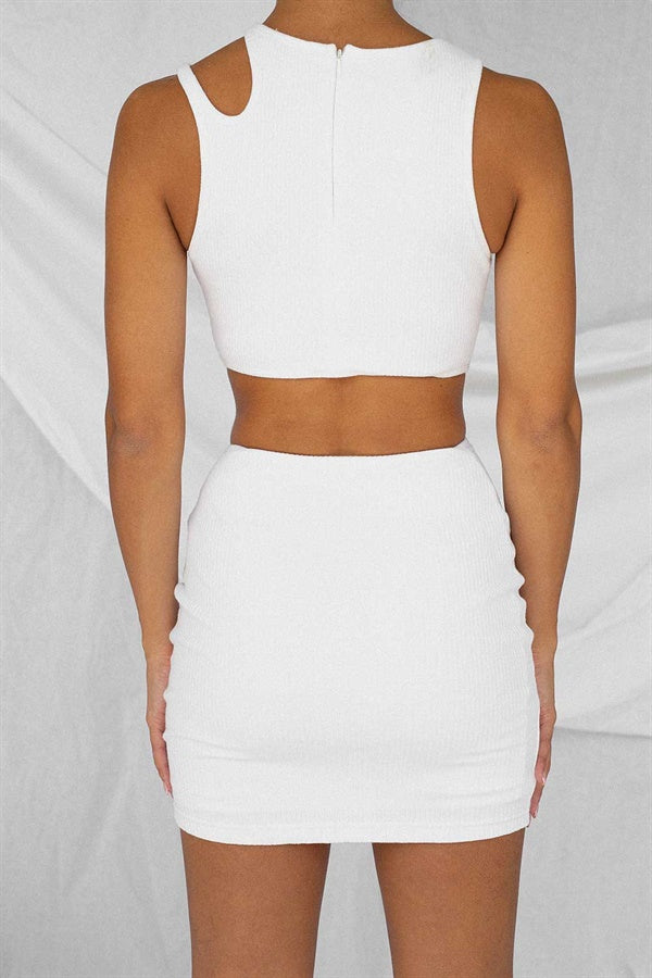 Damaris Dress - White