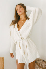 Elle Knit Dress - White