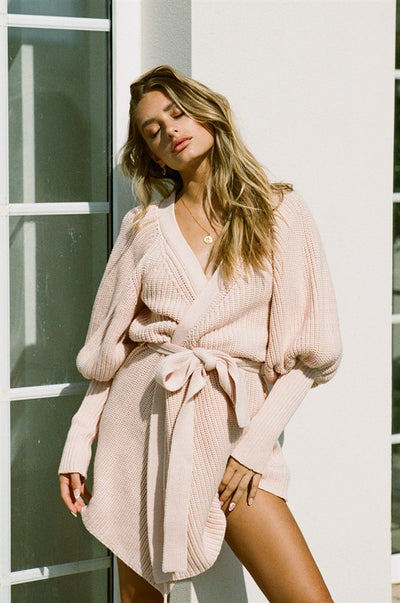 Elle Knit Dress - Pink