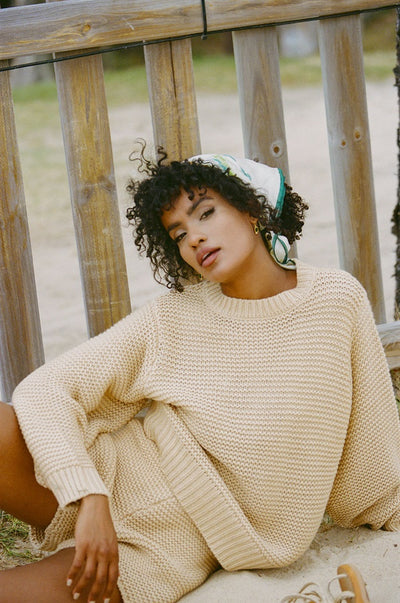 Noelle Knit Sweater - Tan