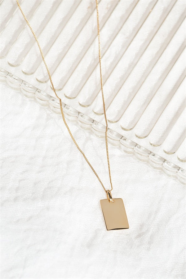 18K Plate Necklace