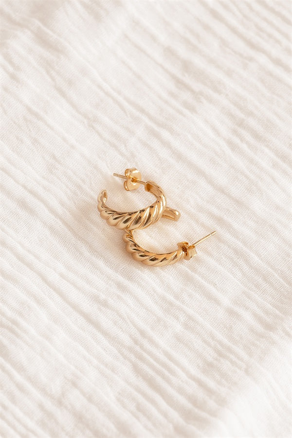 18K Twirl Earrings