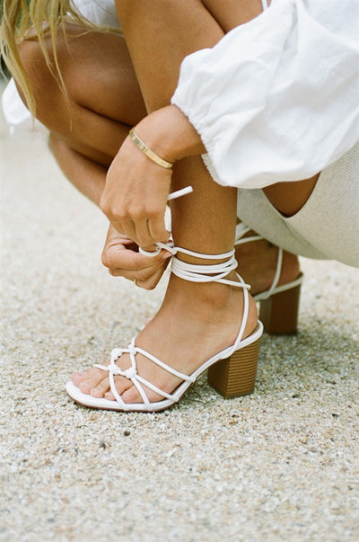 SAMPLE-Blanc Strappy Sandals