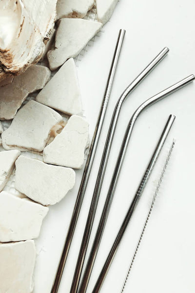 Eco Straw Set - Silver
