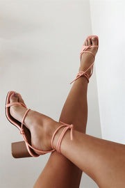 Emme Strappy Sandals - Salmon