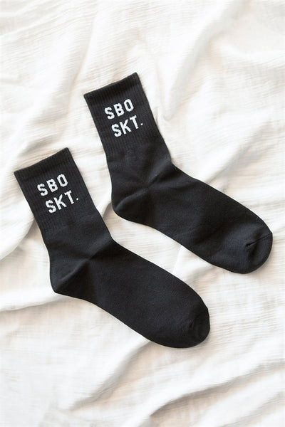 SBO SKT Crew Socks - Black