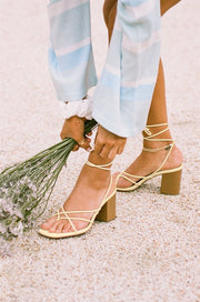 Strappy Salma Heels - Yellow