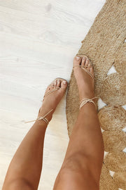 SAMPLE-Zita Strappy Sandals - Tan
