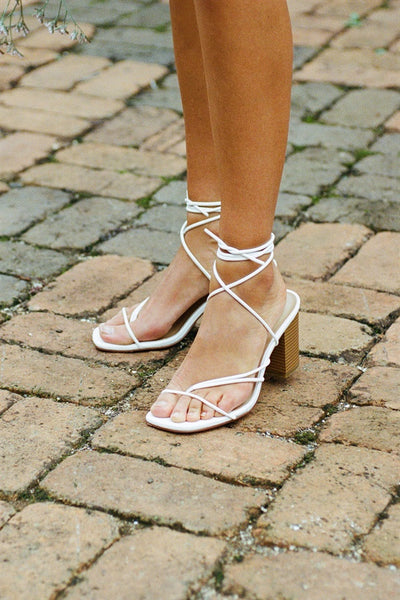 Zita Strappy Sandals - White