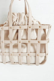 SAMPLE-Cream Lattice Tote