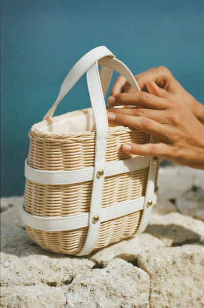 Mini Wicker Tote
