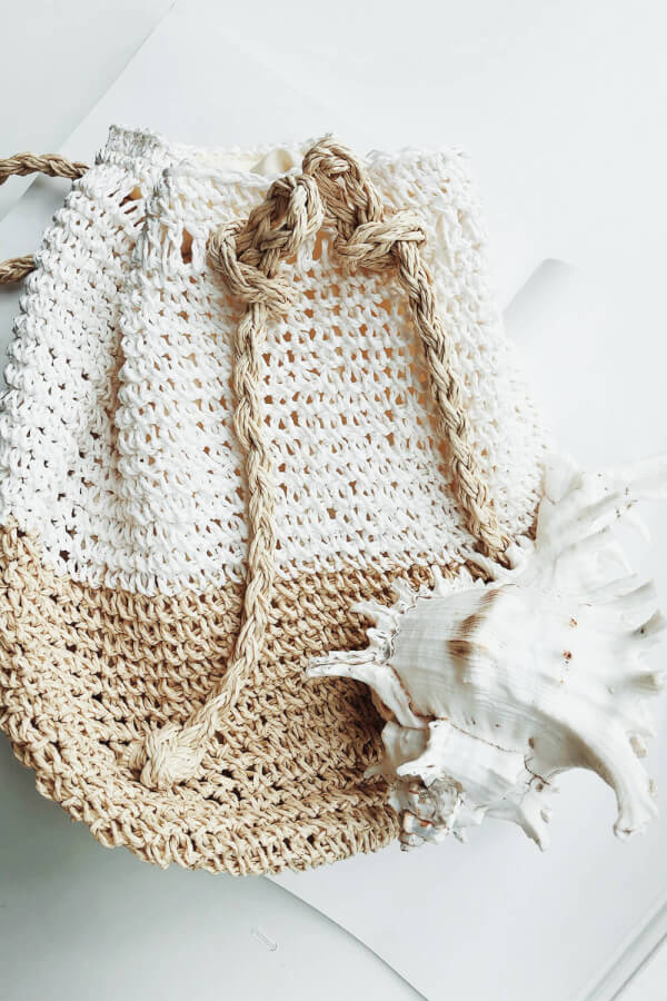 Raffia Backpack