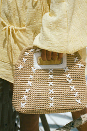 Weave Handle Tote Bag