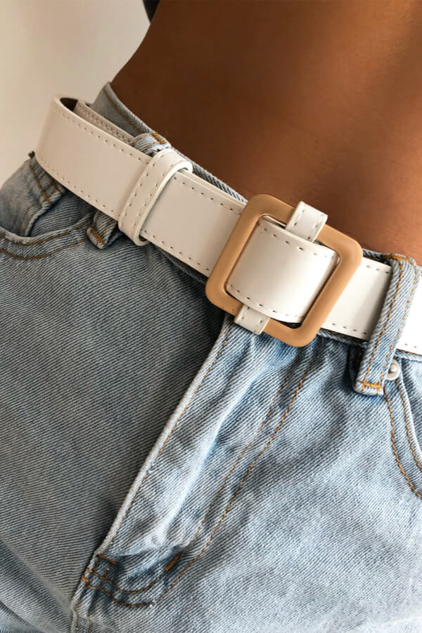 SAMPLE-Penny Lane Belt - White
