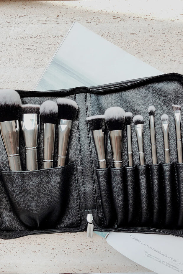 Crush Cosmetics - 11 Piece Platinum Brush Set