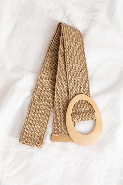Woven Saturn Belt - Tan