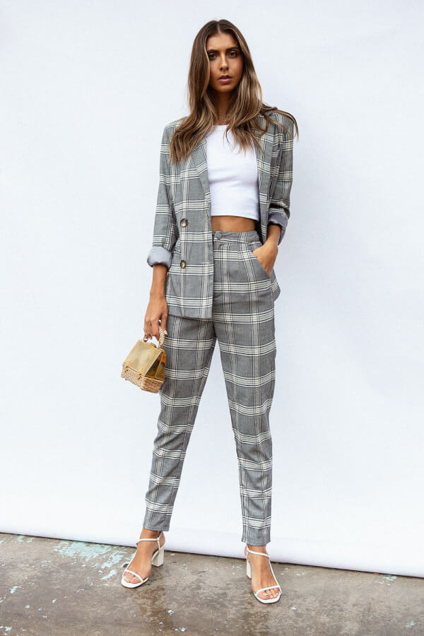 Tahlia Plaid Trousers