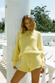 SAMPLE-Noelle Knit Sweater - Lemon
