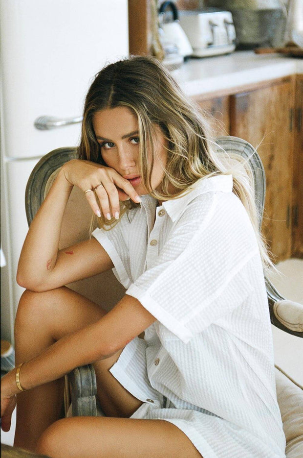 Cosy Shirt Dress - White