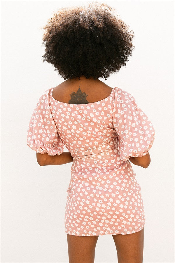 SAMPLE-Marah Wrap Dress - Floral