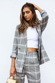 Simona Plaid Blazer
