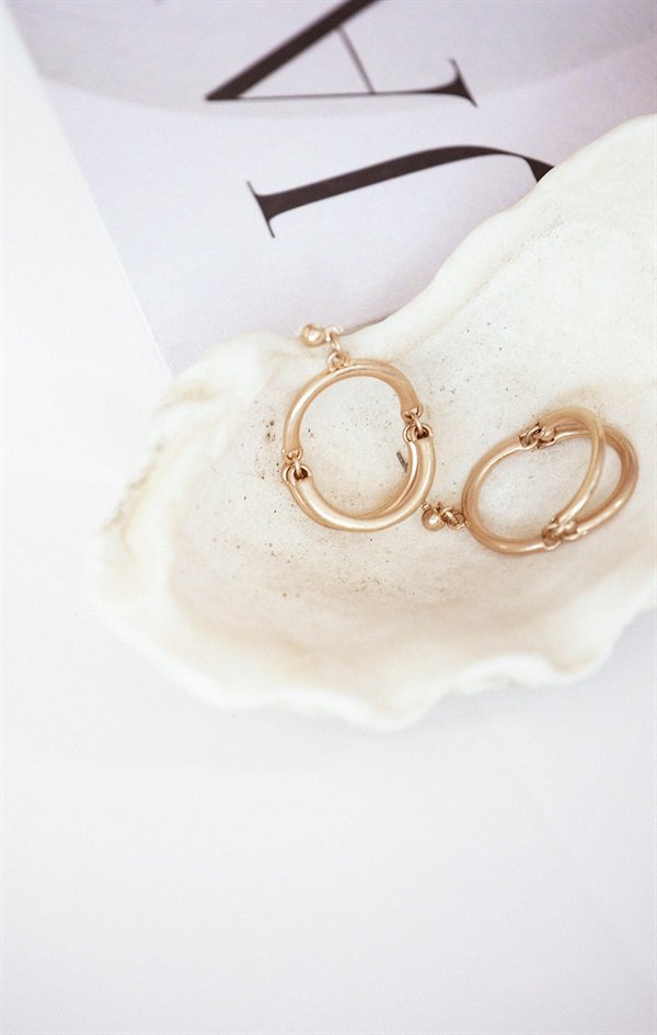 Tri Oval Earrings