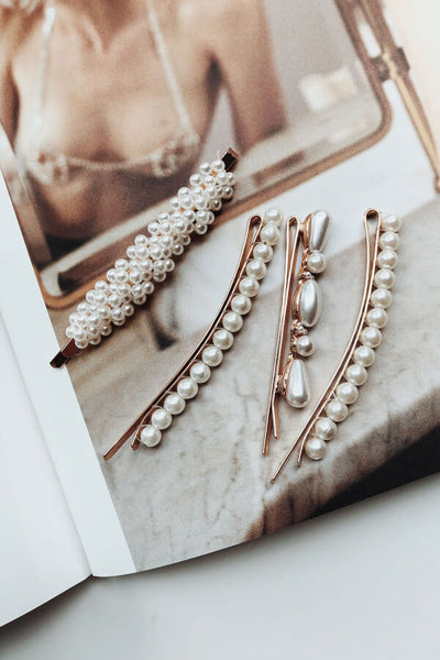 Mismatched Pearl Clips