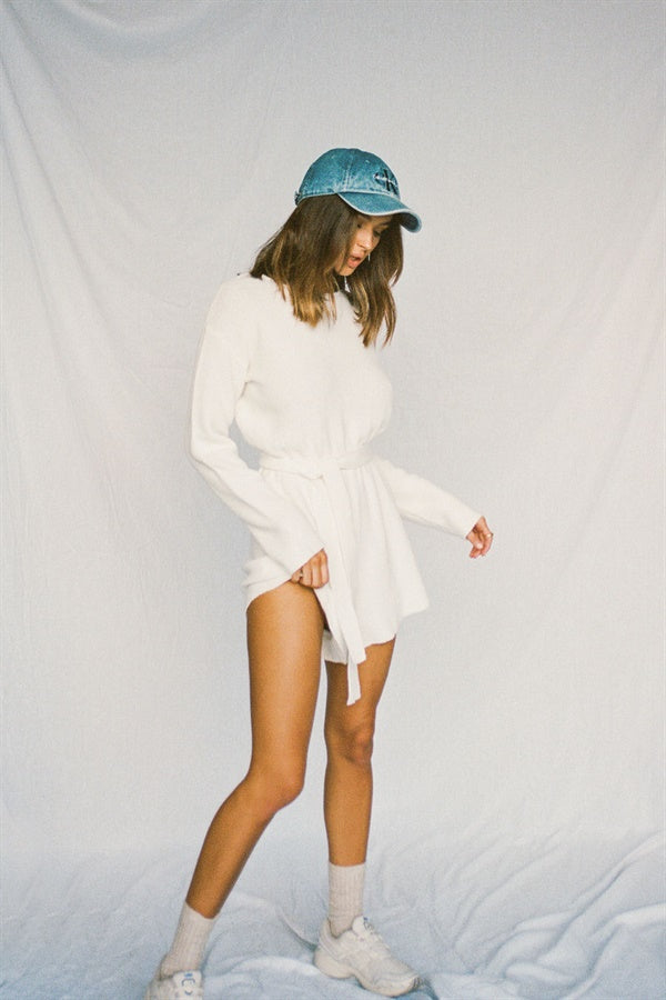 SAMPLE-Cream Knit Playsuit
