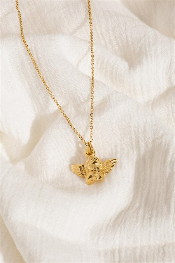 Golden Cupid Necklace