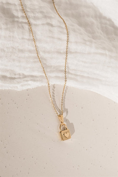 Golden Lock Necklace