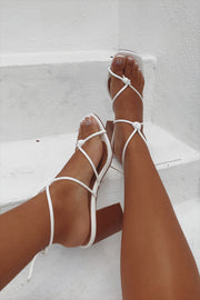 SAMPLE-Strappy Noa Heels - White