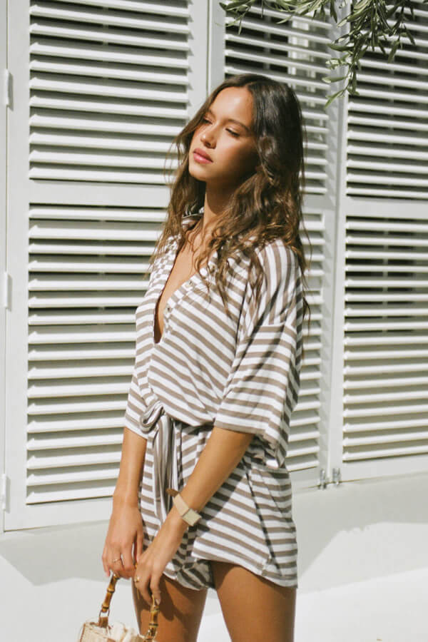 SAMPLE-Comfy Stripe Playsuit