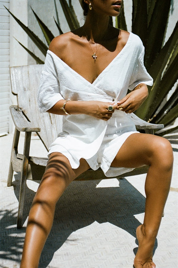 Laya Playsuit - White
