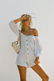 SAMPLE-Lustre Stripe Playsuit