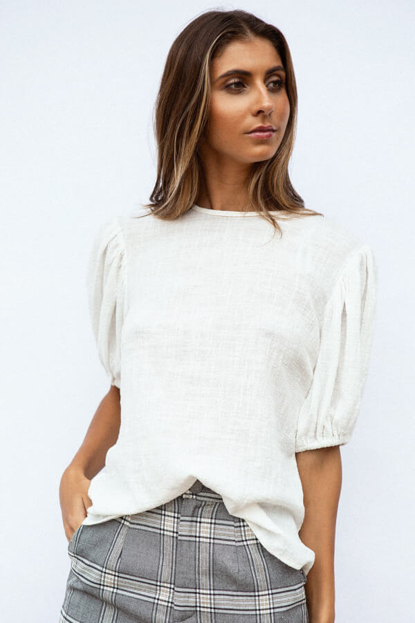 Raw Bold Sleeve Top