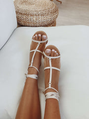 SAMPLE-Karmela Heels - Cream