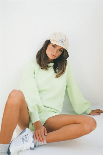 Lime Knit Top