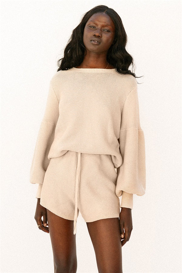 SAMPLE-Mocha Knit Top