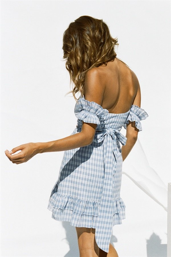 Santorini Gingham Top