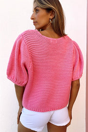 Zephyr Knit Top - Pink