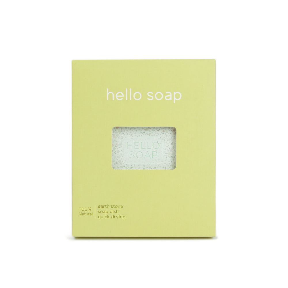 "Kalastyle Home Green ""Hello Soap"" Dish"