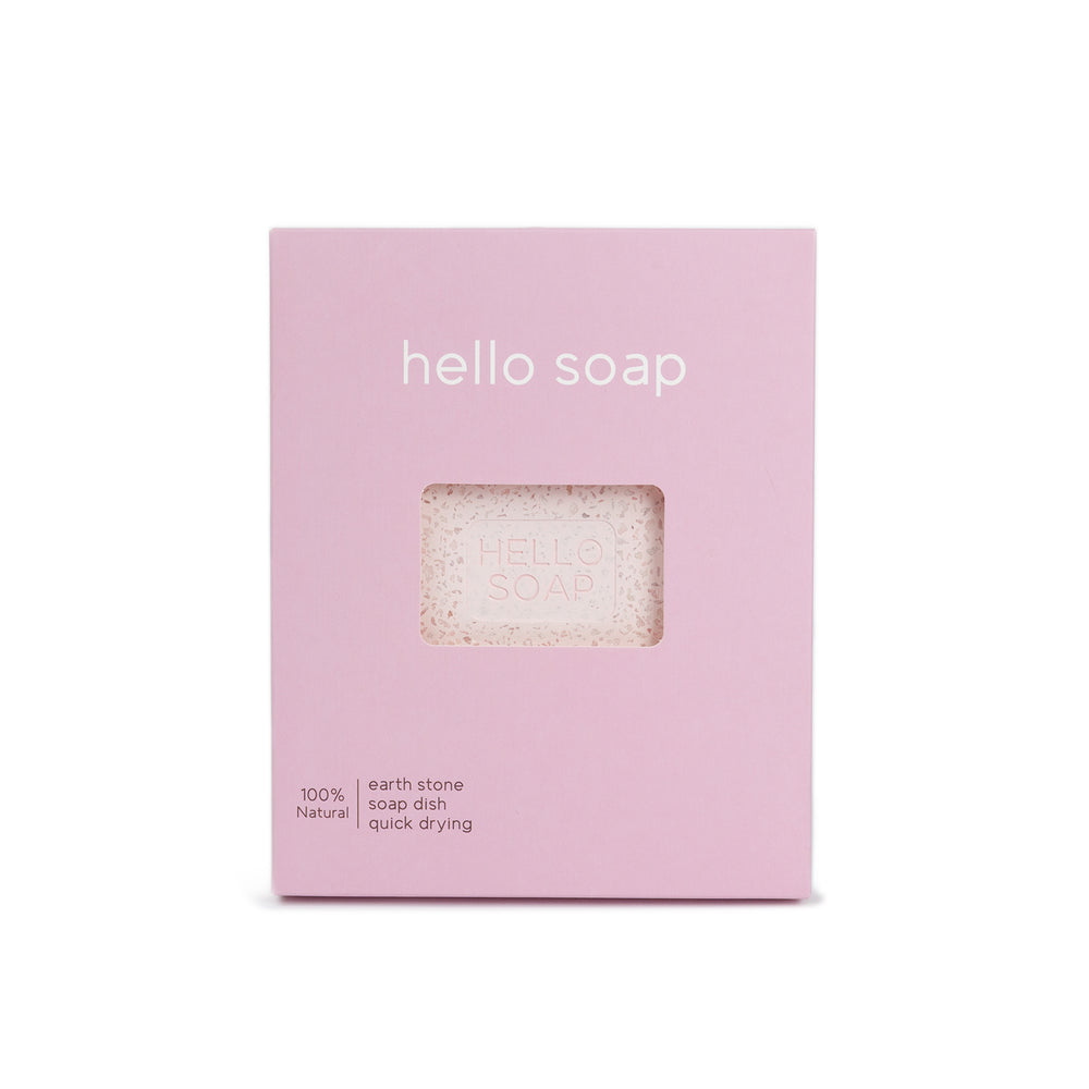 "Kalastyle Home Pink ""Hello Soap"" Dish"
